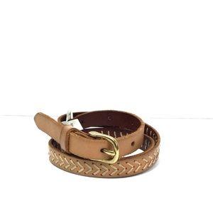 Madewell 100%  Leather Slim Brown Belt